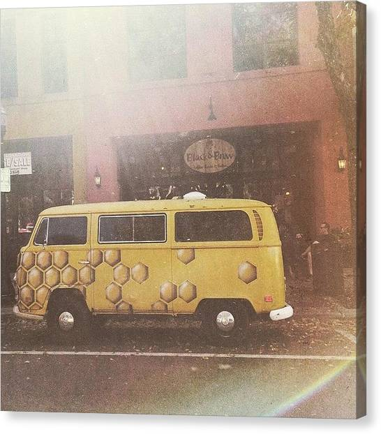Vw Bus Canvas Print - Honeycomb by Allie Wisniewski