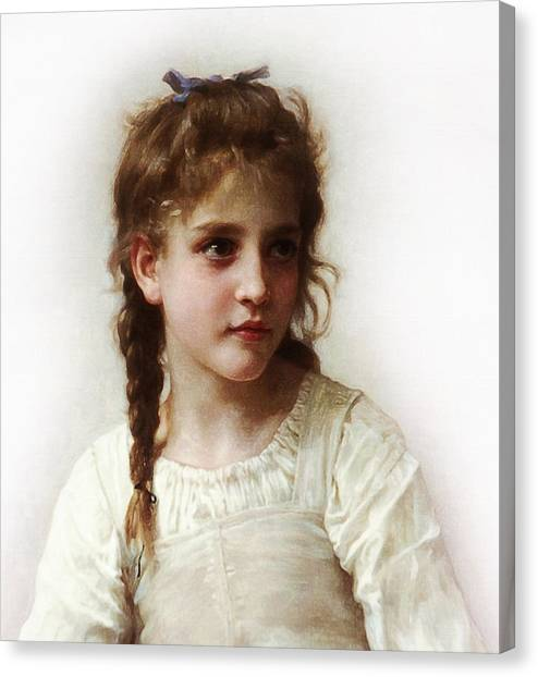 Cute Little Girl Canvas Print