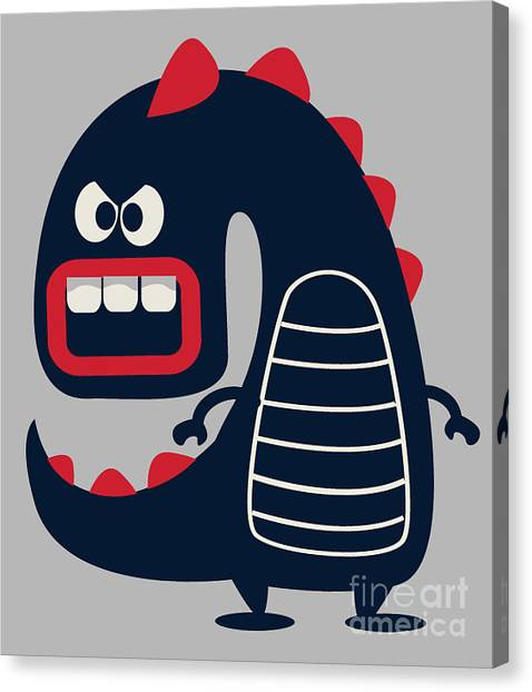 Monsters Canvas Print - Cute Monster Vector by Braingraph
