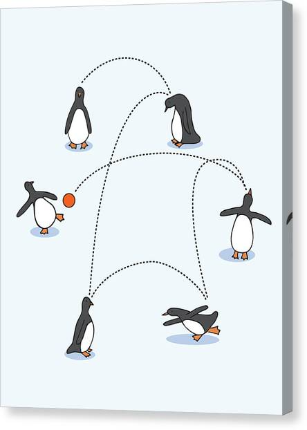 Fun Canvas Print - Cute Penguin Art by Christy Beckwith