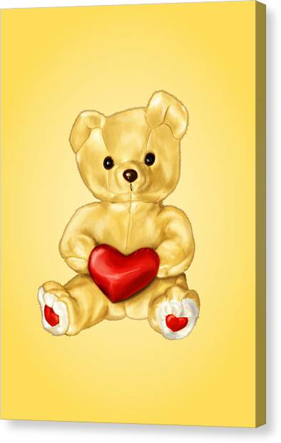 Cute Teddy Bear Hypnotist Canvas Print