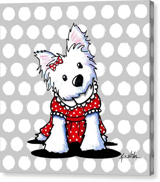 Cutiepie Westie Girl Canvas Print