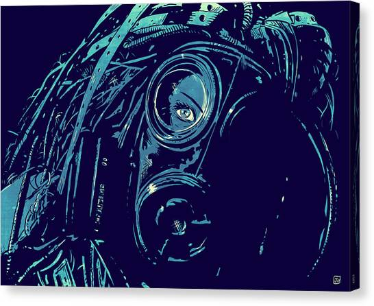 Science Canvas Print - Cyber Punk by Giuseppe Cristiano