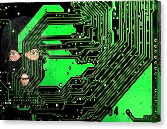 Special Forces Canvas Print - Cyberterrorism by Victor De Schwanberg/science Photo Library