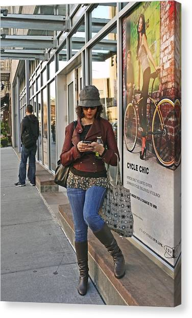 Cycle Chic Canvas Print