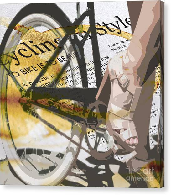 Ankles Canvas Print - Cycle Chic by Sassan Filsoof