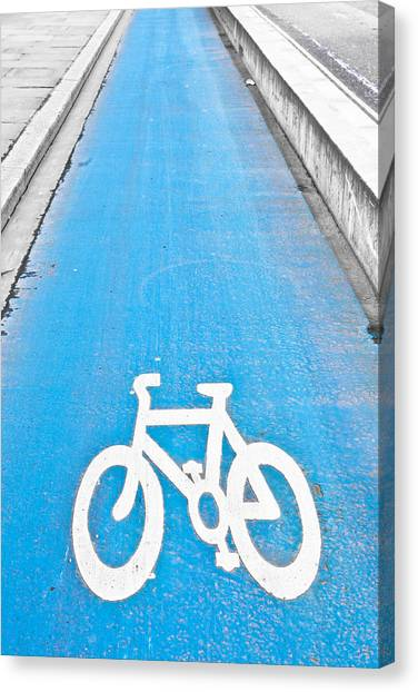 One Direction Canvas Print - Cycle Path by Tom Gowanlock