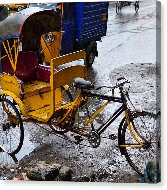 Georgetown University Canvas Print - Cycle Rickshaws Rule The Streets Of Old by Srivatsa Ray