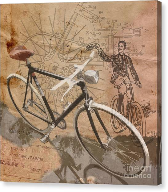 Bicycle Canvas Print - Cycling Gent by Sassan Filsoof