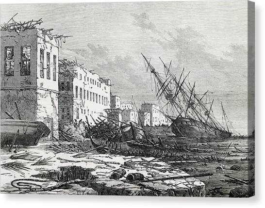Cyclones Canvas Print - Cyclone Damage On Zanzibar by George Bernard/science Photo Library