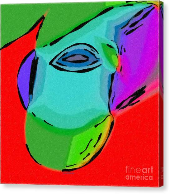 Canvas Print featuring the digital art Cyclops by Dee Flouton
