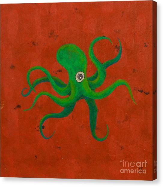 Cycloptopus Red Canvas Print