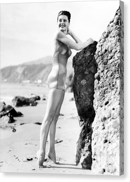 Bikini Canvas Print - Cyd Charisse by Silver Screen