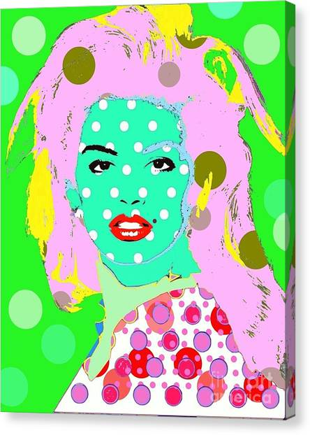 Cyndi Crawford Canvas Print by Ricky Sencion