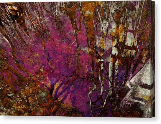 Cypress Swamp Abstract #2 Canvas Print