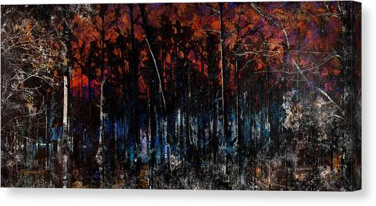 Cypress Swamp Abstract #1 Canvas Print