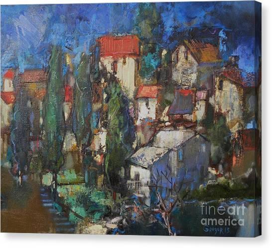 Canvas Print - Cypresses by Grigor Malinov