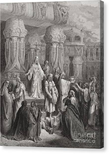 Persians Canvas Print - Cyrus Restoring The Vessels Of The Temple by Gustave Dore