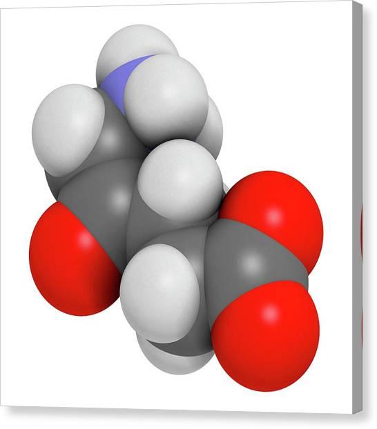 Delta Canvas Print - D-aminolevulinic Acid Ala Drug Molecule by Molekuul