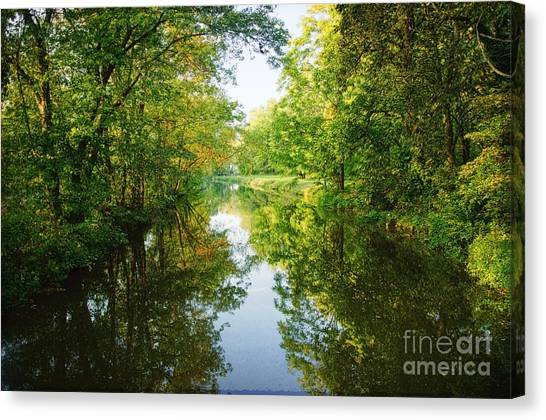 D And R Canal  Canvas Print