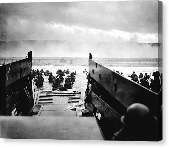 D-day Landings Canvas Print by Robert F. Sargent, Us Coast Guard