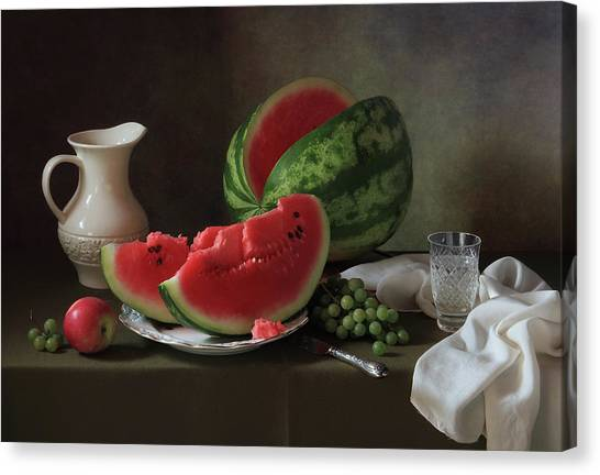 Melons Canvas Print - D? D?n?d?n?d?d?d? by ??????? ????????