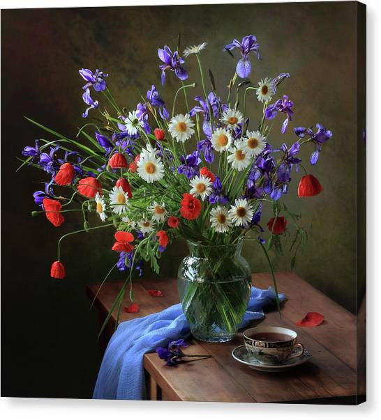 Flower Bouquet Canvas Print - D? D?n?dod?n?d?d? D?n?d?d?d?n?n? N?d?d?n?d?d? by ??????? ????????