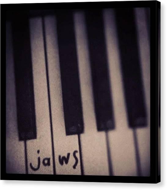 Jaws Canvas Print - Da Dum Da Dum #jaws #piano #icon by Siobhan Macrae