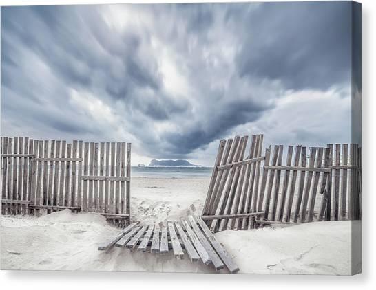 Beach Resort Canvas Print - Da?a De Tormenta by Eduardo Vargas