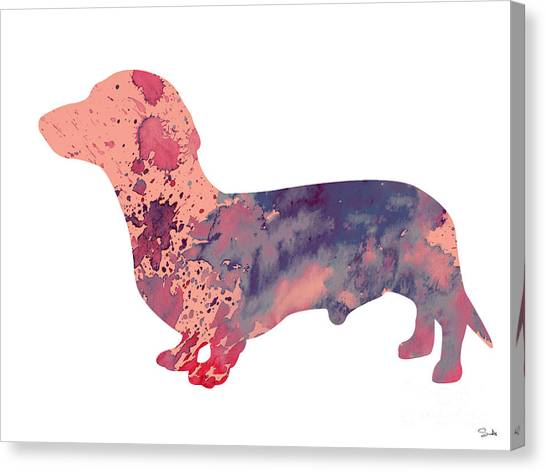 Dachshunds Canvas Print - Dachshund 3 by Watercolor Girl