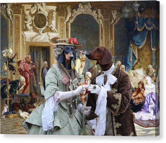 Dachshund Art - Royal Party Canvas Print