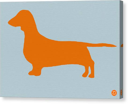 Puppies Canvas Print - Dachshund Orange by Naxart Studio