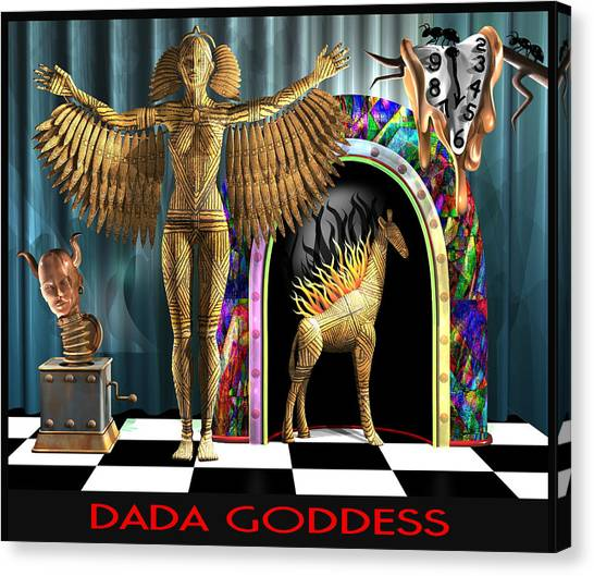 Dada Art Canvas Print - Dada Goddess by Stuart Swartz