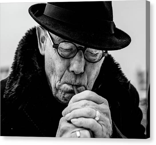Old Man Canvas Print - Daddy... by Dorothea Boonstra