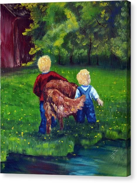 Daddy's Boys Canvas Print