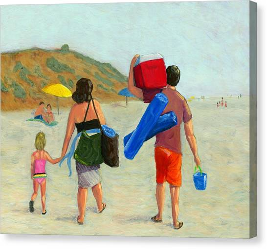 Sunny Day Canvas Print - Dad's Day Off by Karyn Robinson