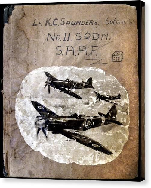 Dad's Flight Training Logbook Canvas Print