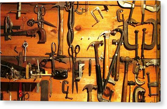 Dads Tools 3 Canvas Print by Will Boutin Photos