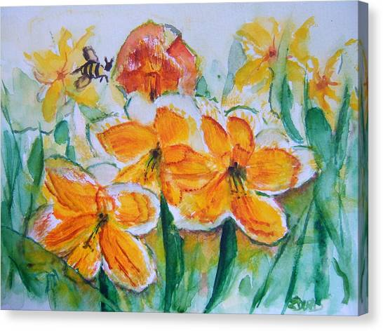 Daffies Canvas Print