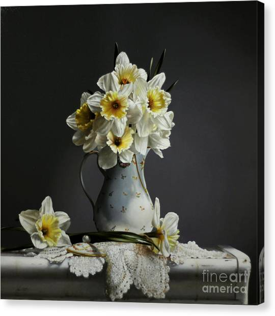 Daffodils Canvas Print - Daffodils by Lawrence Preston