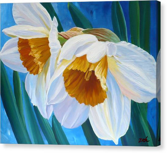 Daffodils Narcissus Canvas Print