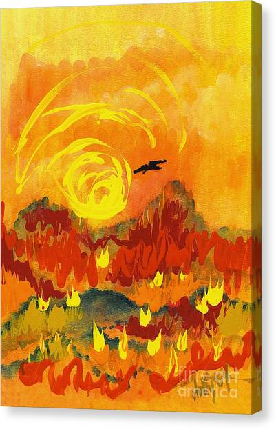 D'agony Canvas Print
