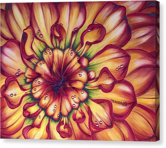 Dahlia Rainbow Canvas Print