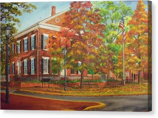 Dahlonega's Gold Museum In Autumn Canvas Print