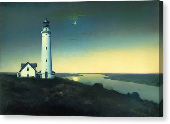 Night Lights Canvas Print - Daily Illuminations by Douglas MooreZart