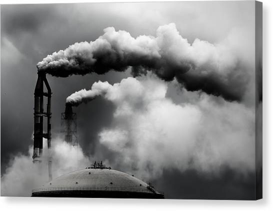 Pollution Canvas Print - Daily Inspection by Dr. Akira Takaue