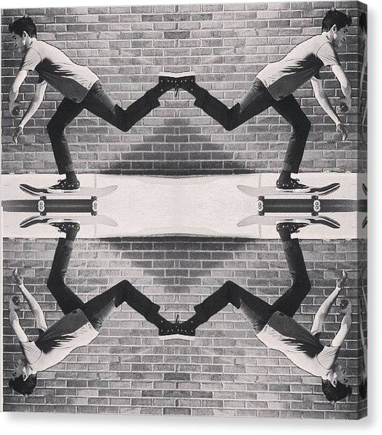 Symmetrical Canvas Print - Daily Push Photo Number 8 by Derek Andrews