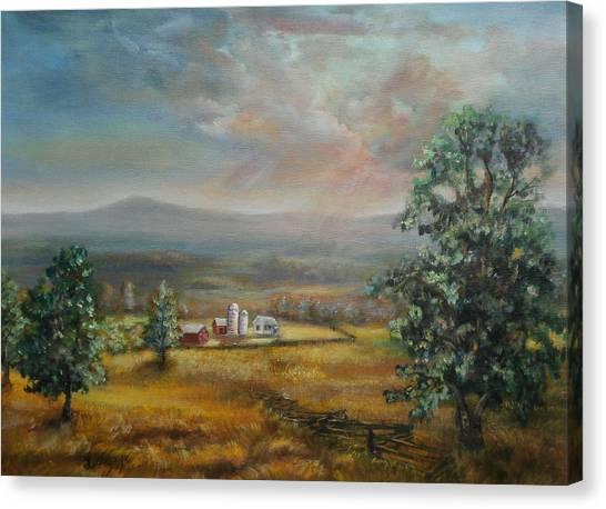 Dairy Farm Pennsylvania Canvas Print