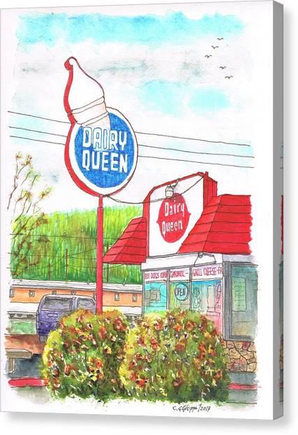 Dairy Queen In Route 66, Williams, Arizona Canvas Print