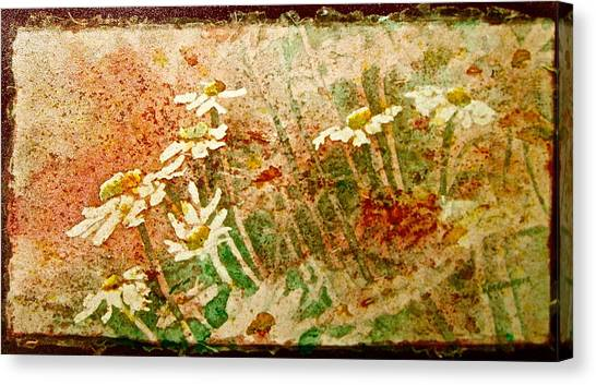 Daisies In The Wind Canvas Print